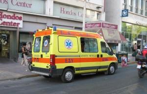 Ambulancia en las calles de Atenas (foto Flickr de colargol87)