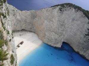 Playa Navagio, en Zakynthos, Grecia (Foto Flickr de RobW_)