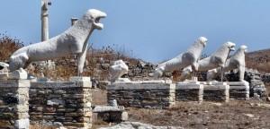 Terraza de los Leones, en Delos, Grecia (Foto Flickr de Insempià)