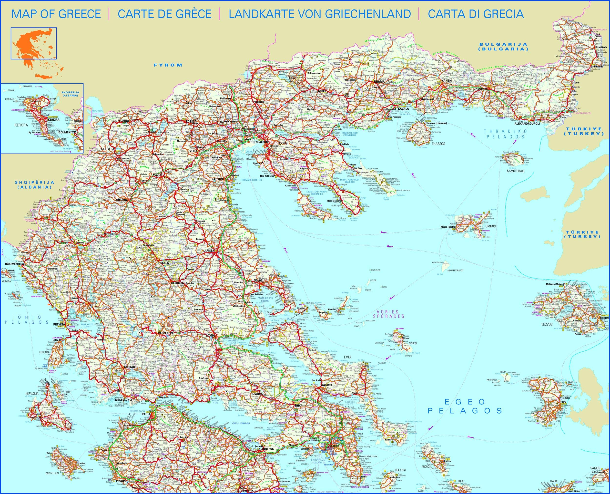 Mapas, planos y callejeros de Grecia