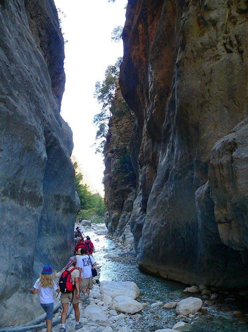 Excursión por la garganta de Samaria, en Creta
