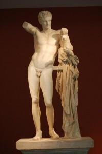Hermes y el niño Dionisio, en el Museo Olimpia (Foto Flickr de  Moncivais)