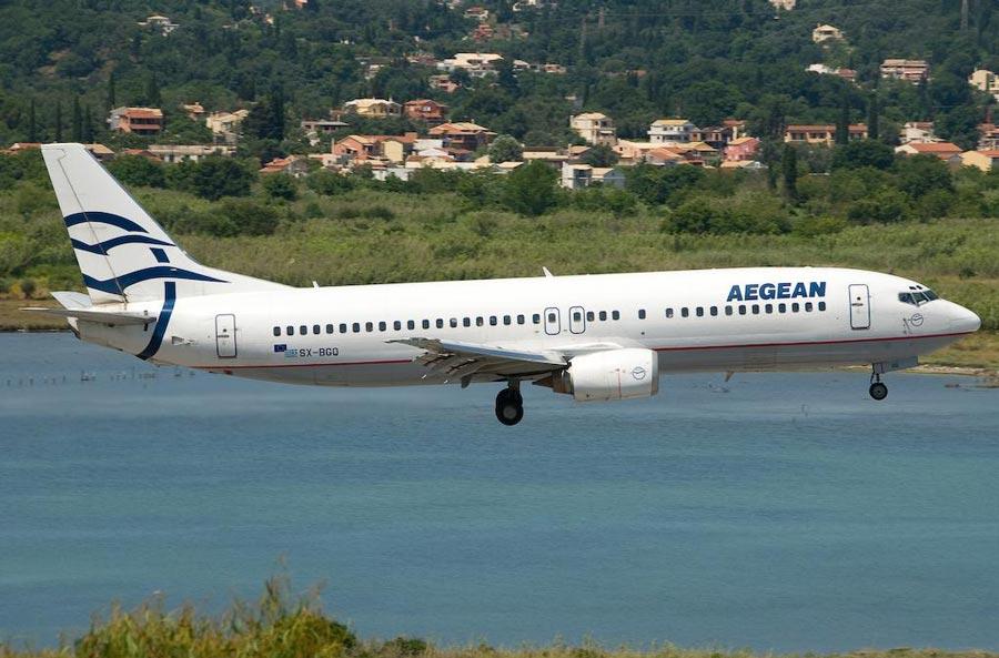 Avión de la aerolínea griega Aegean