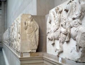Friso del Partenón, expuesto en el Museo de la Acrópolis en Grecia